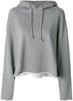 RtA loose-fit distressed hoodie