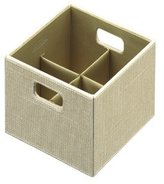 Rubbermaid Bento Storage Box with Flex Dividers, Small, Loose Linen (1791946)
