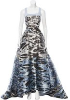 Carolina Herrera Patterned Evening Gown