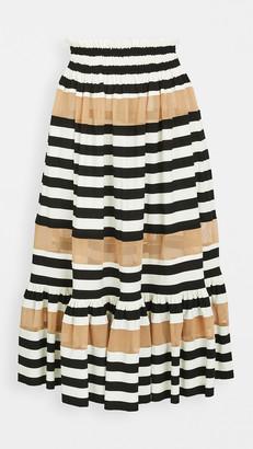 Norma Kamali Spliced Peasant Skirt