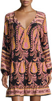 Calypso St. Barth Rensma Drop-Waist Silk Dress, Black