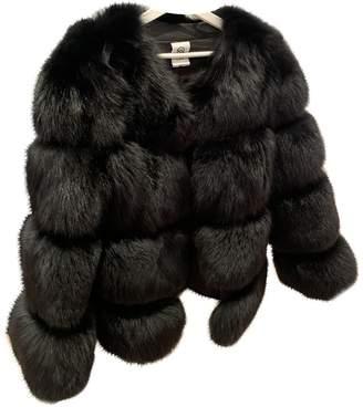 Ducie Black Fox Coat for Women