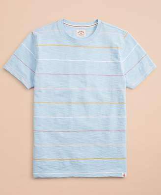 Brooks Brothers Striped Slub Cotton Jersey T-Shirt