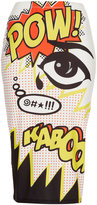 Topshop Kaboom print tube skirt