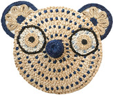 Anne Claire Bear Straw Face - Navy