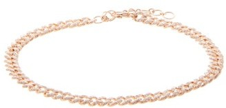 Shay Diamond Pave & 18kt Rose-gold Anklet - Rose Gold