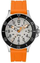 Timex R) Allied Silicone Strap Watch, 43mm