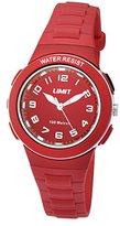 Limit Active Unisex Quartz Watch with Red Dial Analogue Display and Red Plastic Strap 5595.24