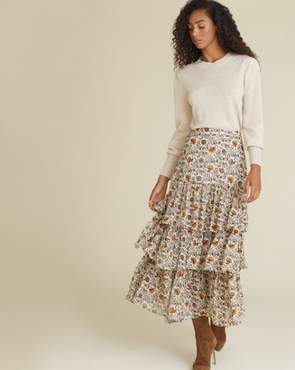 Veronica Beard Shailene Paisley Skirt