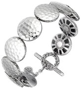 John Hardy Palu Silver Medium Round Disc Bracelet