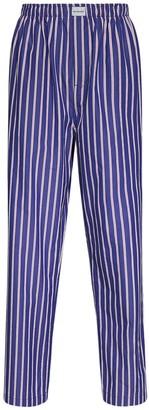 Balenciaga Striped Cotton Poplin Pajama Pants