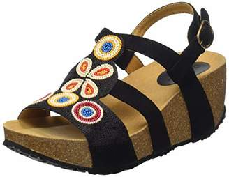 Desigual Shoes (odisea_flower Beads), Women's Slingback Sandals, Black (Negro 2000), (40 EU)