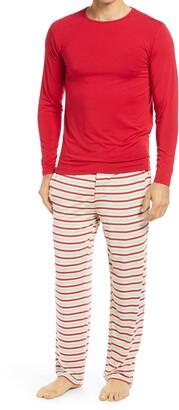 Kickee Pants Men's Candy Cane Stripe Pajamas
