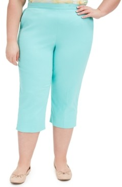 Alfred Dunner Plus Size Spring Lake Pull-On Capri Pants