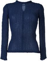 Victoria Beckham crepe wide neck blouse