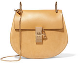 Chloé Drew Small Leather And Suede Shoulder Bag - Yellow