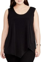 Rachel Roy Plus Size Women's Drape Overlay Tank