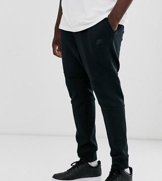 Nike Plus Tech Fleece cuffed jogger in black