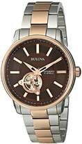 Bulova Men's 98A140 Analog Automatic Mechanical Stainless Steel Silver Watch