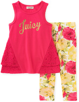 Juicy Couture Hot Pink & Yellow 'Juicy' Tunic & Leggings - Toddler & Girls