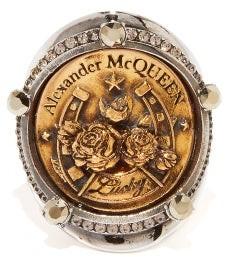 Alexander McQueen Lucky Medallion Ring - Gold