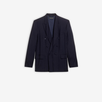 Balenciaga Pleated Double Breasted Jacket