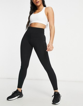 Lorna Jane Booty Sculpt high waisted ankle biter leggings in black