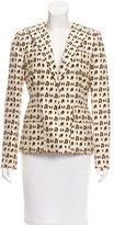 Giambattista Valli Leopard Print Silk Blazer