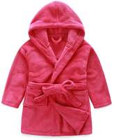 Evebright Kid's Purple Hooded Plush Robe Soft Fleece Bathrobe Age 8-9
