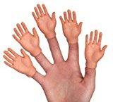 Accoutrements Set Of Five Finger Hands Finger Puppets