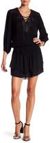 Hale Bob Lace-Up Blouson Dress