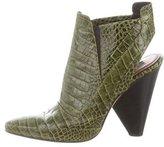 Derek Lam Embossed Semi Pointed-Toe Ankle Boots