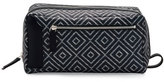 Salvatore Ferragamo Oversized Diamond-Print Toiletry Case, Blue/Sand