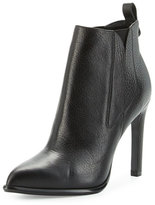 KENDALL + KYLIE Cara Pointed-Toe Leather Bootie, Black