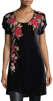 Johnny Was Meri Velvet Embroidered Tunic