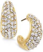 Charter Club Large J-Hoop Crystal Earrings, -Tone