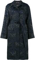 Rochas floral jacquard opera coat