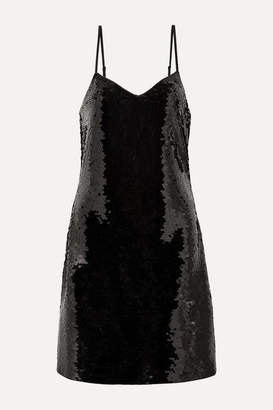 MICHAEL Michael Kors Paillette-embellished Jersey Mini Dress - Black