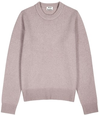 Acne Studios Shetland light purple wool jumper