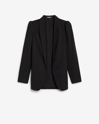 Express Long Puff Sleeve Boyfriend Blazer