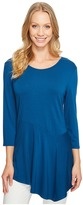 Vince Camuto 3/4 Sleeve Asymmetrical Panel Hem Top Women's Clothing