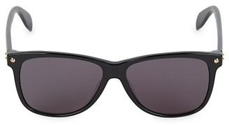 Alexander McQueen 55MM Rectangular Sunglasses