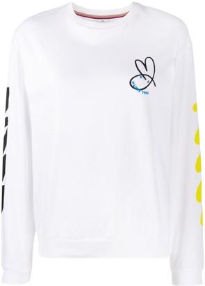 Paul Smith Graphic-Print Crew-Neck Sweatshirt