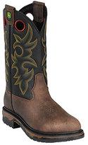 """John Deere Men's Boots 11"""" Western Work Steel Toe 5322 Boot"""