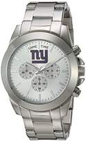 Game Time Women's 'Knock-Out' Quartz Stainless Steel Quartz Analog Watch, Color:Silver-Toned (Model: NFL-TBY-NYG)