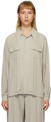 Undercover Beige Pleated Shirt