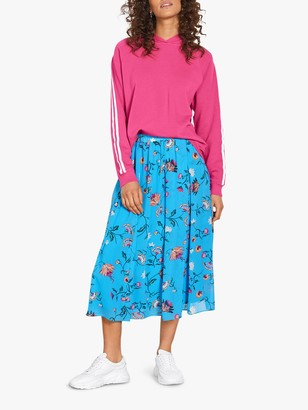 Hush Martina Butterfly Floral Midi Skirt, Blue