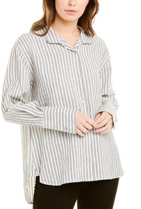 Frame Clean Collared Linen-Blend Shirt