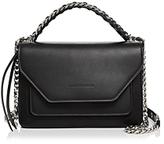 Elena Ghisellini Eclipse Flap Leather Shoulder Bag