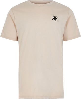 River Island Boy Beige Beige RVR embroidered T-shirt